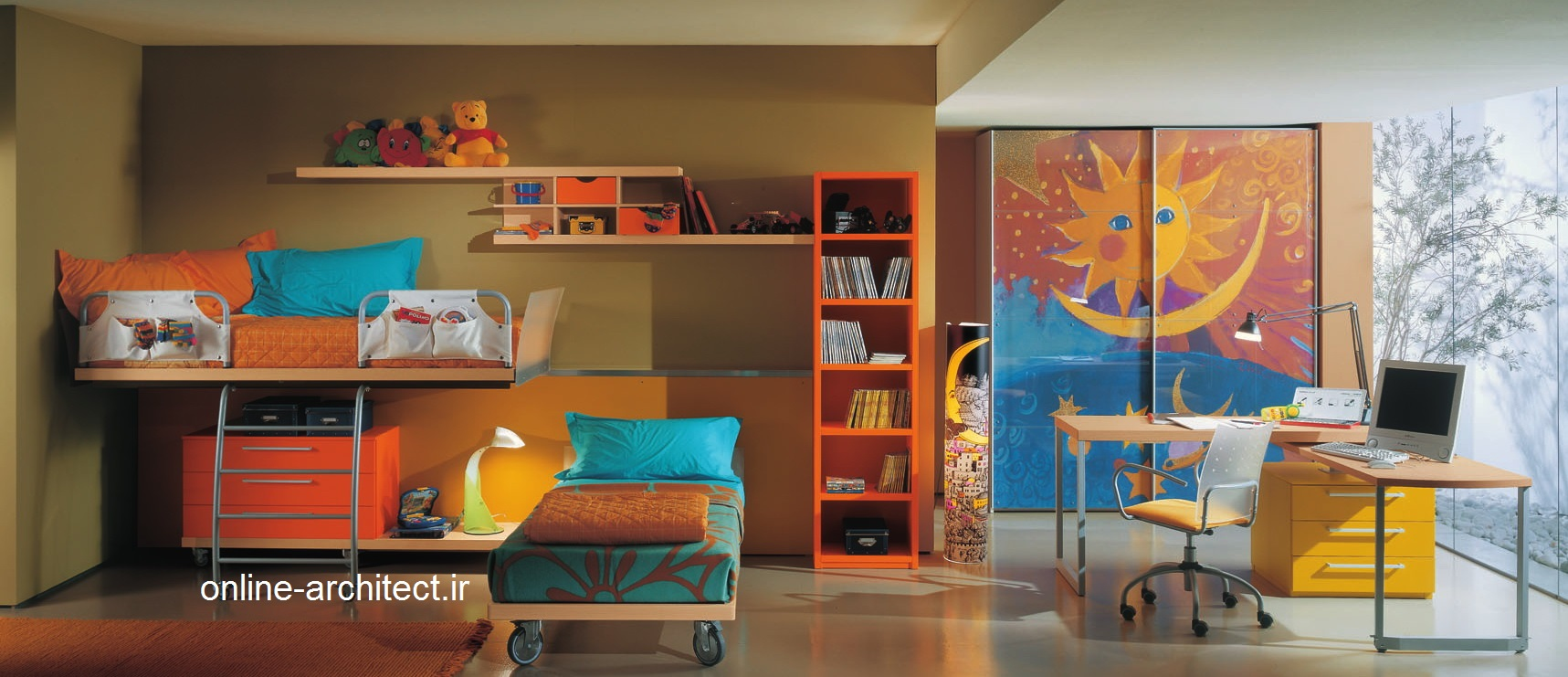 دیزاین دکوراسیون داخلی اتاق خواب کودکان