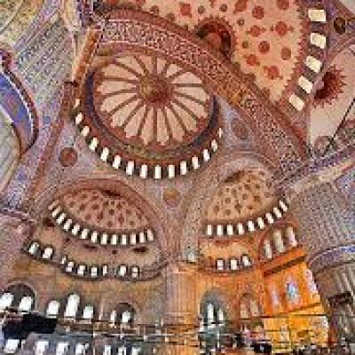 تزئینات مسجد سلطان احمد