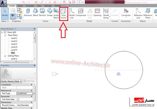 آموزش طراحی گنبد شیشه ای در رویت - معمار آنلاینترسیم گنبد شیشه ای در رویت
