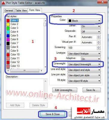 print گرفتن و تنظیمات ضخامت خطوط در پرینت کد
