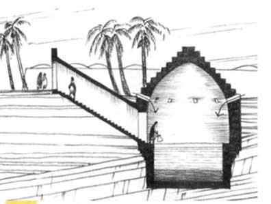 همسازي انسان با بيابان . ابداع آبانبار براي برداشت و ذخيره آب).پرديسان،،1354تصوير (7